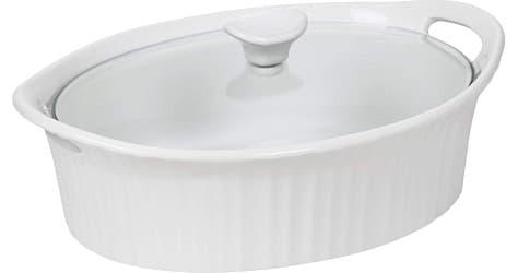 Corningware 1105935 French White III Oval Casserole