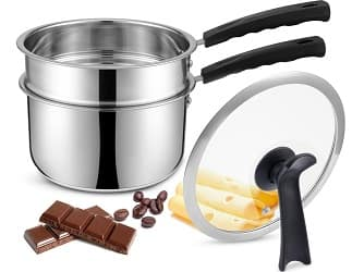 Double Boilers & Classic Stainless Steel Non-Stick Saucepan