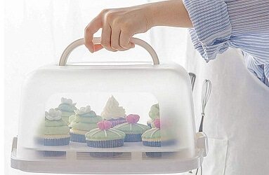 FEOOWV Plastic Square Cake Carrier