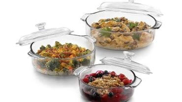 Libbey Bakers Basics 3-Piece Glass Casserole Baking Dish