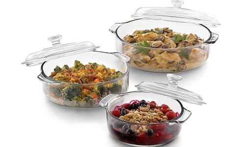 Libbey Bakers Basics 3-Piece Glass Casserole Baking Dish
