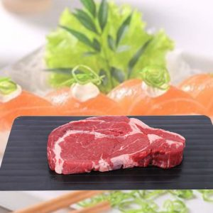 GFCC Defrosting Tray Meat Defroster Tray Fast Defrost Tray The Safest Way to Rapid Thaw Meat Fish or Frozen Food Without Electricity Microwave Hot Water or Any Other Tools