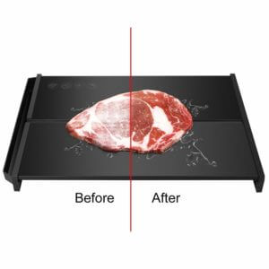 "Rapid Defrosting Tray Natural Thawing - Eco Friendly Thawing Plate with Thickness 0.2"" and Stable Framework for Frozen Meat, Chicken, Vegetables, No Heating, BPA Free"